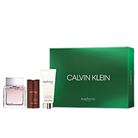 Calvin Klein Euphoria /мъжки/ Комплект -  edt 100 ml + a/s balmsam 100 ml + stick 75 G