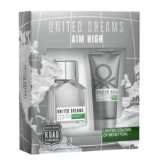 Benetton United Dreams Aim High Мъжки Комплект Set - EdT 100 мл + автършейв балсам 100 мл